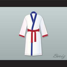 'Irish' Micky Ward White Satin Full Boxing Robe