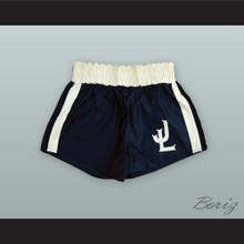 Joe Louis Black and White Boxing Shorts