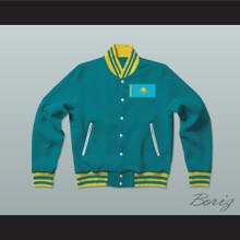Kazakhstan Varsity Letterman Jacket-Style Sweatshirt