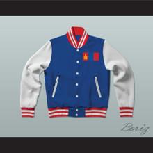 Mongolia Varsity Letterman Jacket-Style Sweatshirt