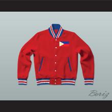 Philippines Varsity Letterman Jacket-Style Sweatshirt