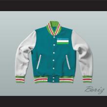 Uzbekistan Varsity Letterman Jacket-Style Sweatshirt