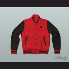 Albania Varsity Letterman Jacket-Style Sweatshirt