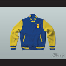 Barbados Varsity Letterman Jacket-Style Sweatshirt