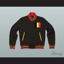 Belgium Varsity Letterman Jacket-Style Sweatshirt