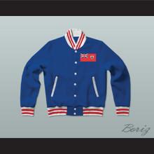 Bermuda Varsity Letterman Jacket-Style Sweatshirt