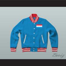 Luxembourg Varsity Letterman Jacket-Style Sweatshirt