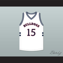 J. Cole 15 Bulldogs High School White Basketball Jersey