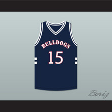 J. Cole 15 Bulldogs High School Navy Blue Basketball Jersey