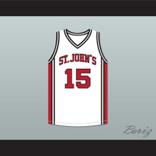 J. Cole 15 St. John's White Basketball Jersey