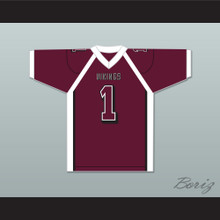 Antonio Brown 1 Miami Norland Senior High School Vikings Maroon Football Jersey