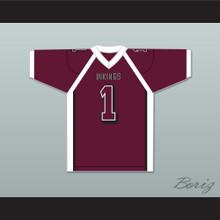 Antonio Brown 1 Miami Norland Senior High School Maroon Football Jersey