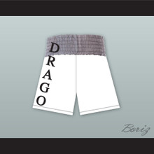 Viktor Drago Russia White and Gray Boxing Shorts Creed II