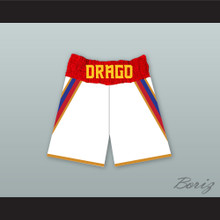 Viktor Drago Russia White Boxing Shorts Creed II