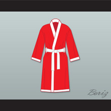 The World's Greatest Lover Red Satin Full Boxing Robe