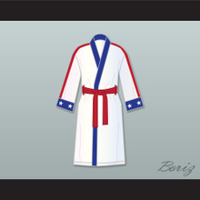 Adonis 'Creed' Johnson White Satin Full Boxing Robe Creed II
