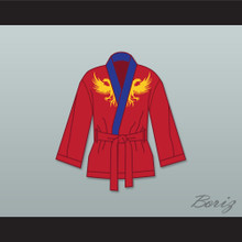 Viktor Drago Red Satin Half Boxing Robe Creed II
