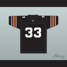 Orc Fogteeth 33 Black Football Jersey with Patch