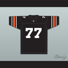 Orc Fogteeth 77 Black Football Jersey with Patch