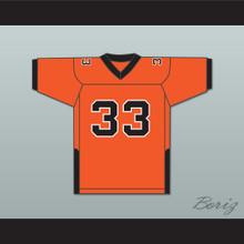 Orc Fogteeth 33 Orange Football Jersey
