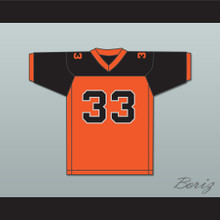 Orc Fogteeth 33 Orange/Black Football Jersey