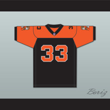 Orc Fogteeth 33 Black/Orange Football Jersey with Patches