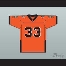 Orc Fogteeth 33 Orange Football Jersey with Patches