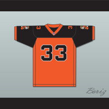 Orc Fogteeth 33 Orange/Black Football Jersey with Patches