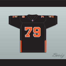 Orc Fogteeth 79 Black Football Jersey with Patches