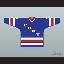 FDNY Bravest 9 Blue Hockey Jersey