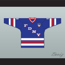 FDNY Bravest 9 Blue Hockey Jersey with Patch