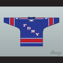 FDNY Bravest 9 Blue Tie Down Hockey Jersey