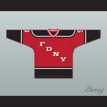 FDNY Bravest 9 Red Hockey Jersey Design 2