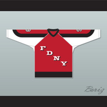 FDNY Bravest 9 Red Hockey Jersey Design 3