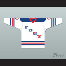 FDNY Bravest 9 White Hockey Jersey Design 1