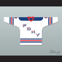 FDNY Bravest 9 White Hockey Jersey Design 2