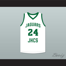 Tacko Fall 24 Jamie's House Charter School Jaguars White Basketball Jersey 2