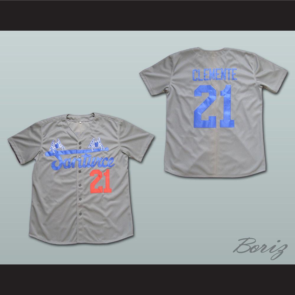 promo code 81f62 501f4 Roberto Clemente 21 Santurce Crabbers Puerto Rico Baseball Jersey