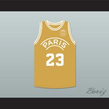 Michael Jordan 23 Paris Saint-Germain F.C. Gold Basketball Jersey with Patch