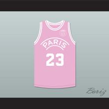 Michael Jordan 23 Paris Saint-Germain F.C. Pink Basketball Jersey with Patch