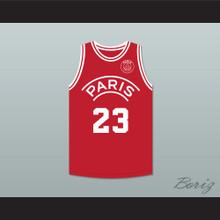 Michael Jordan 23 Paris Saint-Germain F.C. Red Basketball Jersey with Patch