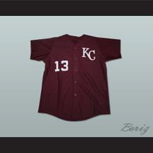 Derek Jeter 13 Kalamazoo Central High School Maroon Giants Baseball Jersey