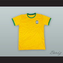 Pele 10 Brazil Yellow Soccer Jersey