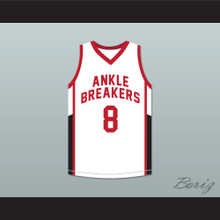 Crossover 8 Ankle Breakers White Basketball Jersey