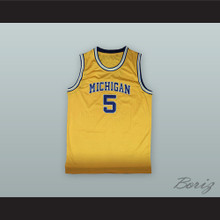 Jalen Rose 5 Michigan Yellow Basketball Jersey