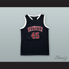Donovan Mitchell 45 Brewster Academy Bobcats Black Basketball Jersey