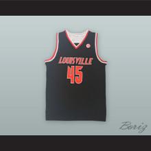 Donovan Mitchell 45 Louisville Cardinals Black Basketball Jersey