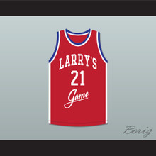 Dominique Wilkins 21 Larry's Game Red Basketball Jersey 1988 Charity Event