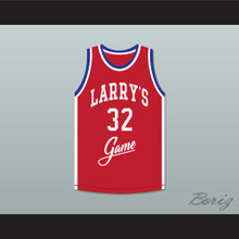 Herb Williams 32 Larry's Game Red Basketball Jersey 1988 Charity Event