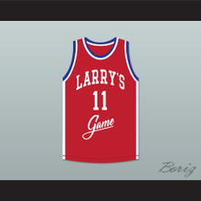 Isiah Thomas 11 Larry's Game Red Basketball Jersey 1988 Charity Event
